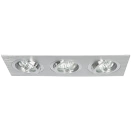Chieti GU10 Triple Plate Brushed Aluminium