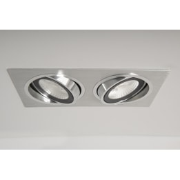 Chieti AR111 Double Plate with 2x 24W 60° LED Non-Dimmable Lamps
