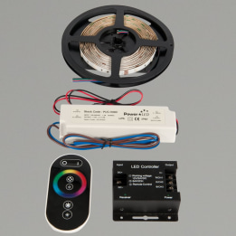 Novara I 5m IP67 RGB LED Strip Kit Complete with Remote, Controller and Power Supply