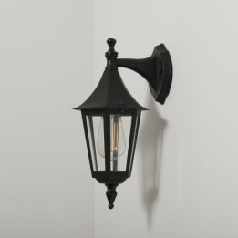 Coria E27 Downwards Wall Lantern Black