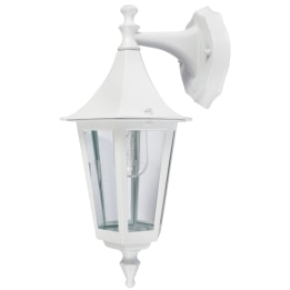 Coria E27 Downwards Wall Lantern White