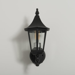 Coria E27 Upwards Wall Lantern Black