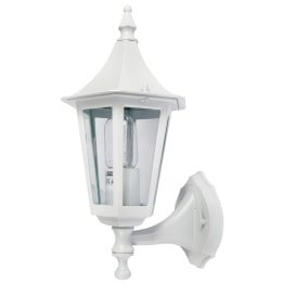 Coria E27 Upwards Wall Lantern White