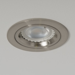 GU10 Twist & Lock Downlight Satin Chrome