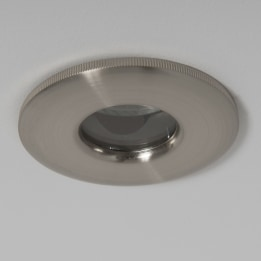 IP65 GU10 Mains Halogen Downlight Satin Chrome