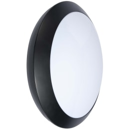 Latina 16W LED 4000K Plain Polycarbonate Bulkhead Black