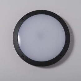 Reggio II 18W 4000K LED Plain Cast Bulkhead with Microwave Sensor Black