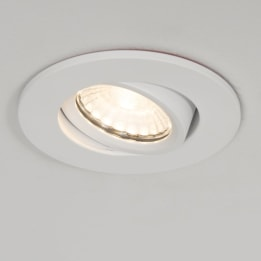 Fire Rated 10W 3000K LED Tiltable Dimmable Downlight