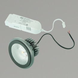 15W AR111 LED 4000K 60° Non-Dimmable Lamp Grey Complete with Driver