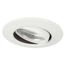 Fire Rated 8W 4000K LED Dimmable Tilt Downlight White