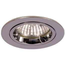 Fire Rated 50W GU10 Twist & Lock Large Can Fixed Downlight Chrome