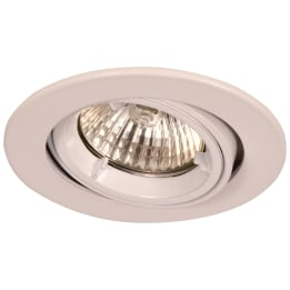 Fire Rated 50W GU10 Twist & Lock Large Can Tilt Downlight White