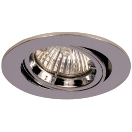 Fire Rated 50W GU10 Twist & Lock Large Can Tilt Downlight Chrome