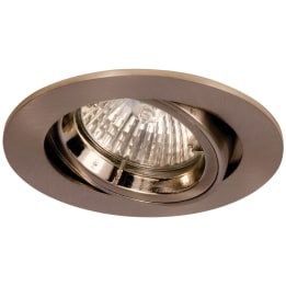 Fire Rated 50W GU10 Twist & Lock Large Can Tilt Downlight Satin Chrome