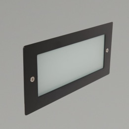 Madrid 6W 3000K LED Wall Light with Plain Frame Black