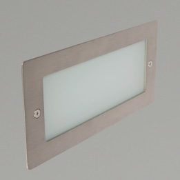 Madrid 6W 4000K LED Wall Light with Plain Frame Stainless Steel