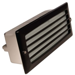 Mira 100 9W PL Low Energy Louvered Grille Wall Recessed Black
