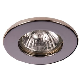 Fire Rated 50W GU10 Mains Halogen Downlight Chrome