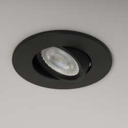 Qr Pro WiZ GU10 RGB + CCT LED Tilt Downlight Black