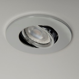 Qr Pro WiZ GU10 RGB + CCT LED Tilt Downlight Chrome