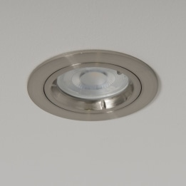 WiZ GU10 2700K LED Twist and Lock Downlight Satin Chrome