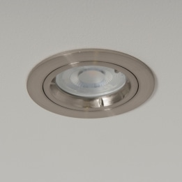 WiZ GU10 4000K LED Twist and Lock Downlight Satin Chrome