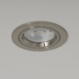 WiZ GU10 RGB + CCT LED Twist and Lock Downlight Satin Chrome