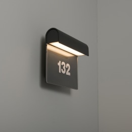 Mataro 8.5W 3000K LED Wall Light with Numbers