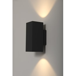 Moby 2 x 9W LED Square Up and Down Wall Light