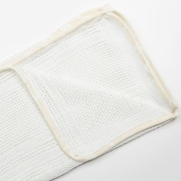 Cellular Edged Pram Blanket - Rabbit Trellis Cream