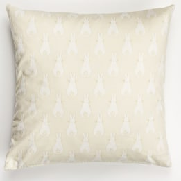 Fabric Cushion - Rabbit Trellis Cream