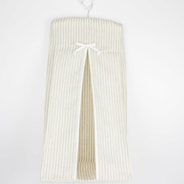 Nappy Stacker - Linen Stripe Beige