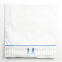Moses Sheet - Embroidered Bunny Blue