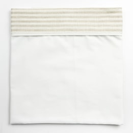 Cot Bed Sheet - Linen Stripe Beige
