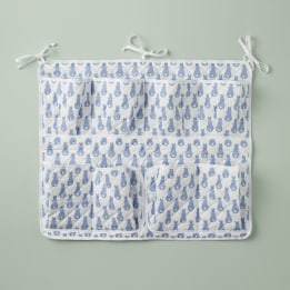 Cot Tidy - Rabbit Trellis Blue