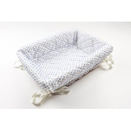 Layette Basket - Spot Voile Blue