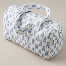 Weekend Changing Bag - Rabbit Trellis Blue