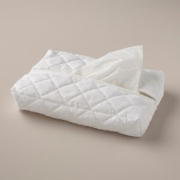 Tissue Cover - Spot Voile White