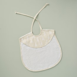 Bib - Rabbit Trellis Cream
