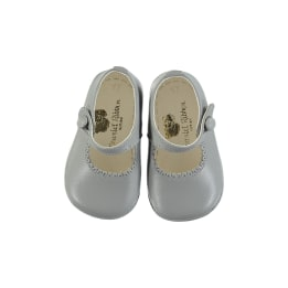 Leather Shoes - Grey