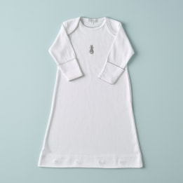 Embroidered Bunny Nightie - Grey