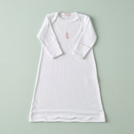 Embroidered Bunny Nightie - Pink
