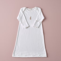 Embroidered Bunny Nightie- Beige