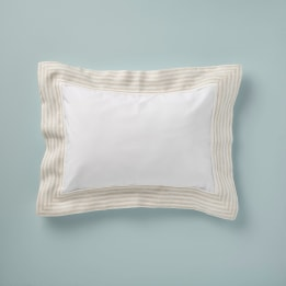 Pillowcase - Linen Stripe Beige