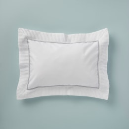 Pillowcase - Waffle Grey Trim