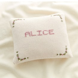 Name Cushion - Flowers
