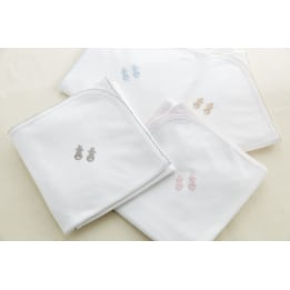 Embroidered Bunny Swaddling Wrap