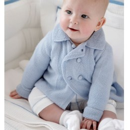 Cashmere Pram Coat - Blue