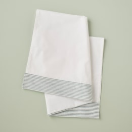 Moses Sheet - Linen Stripe Blue