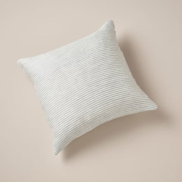Fabric Cushion - Linen Stripe Blue